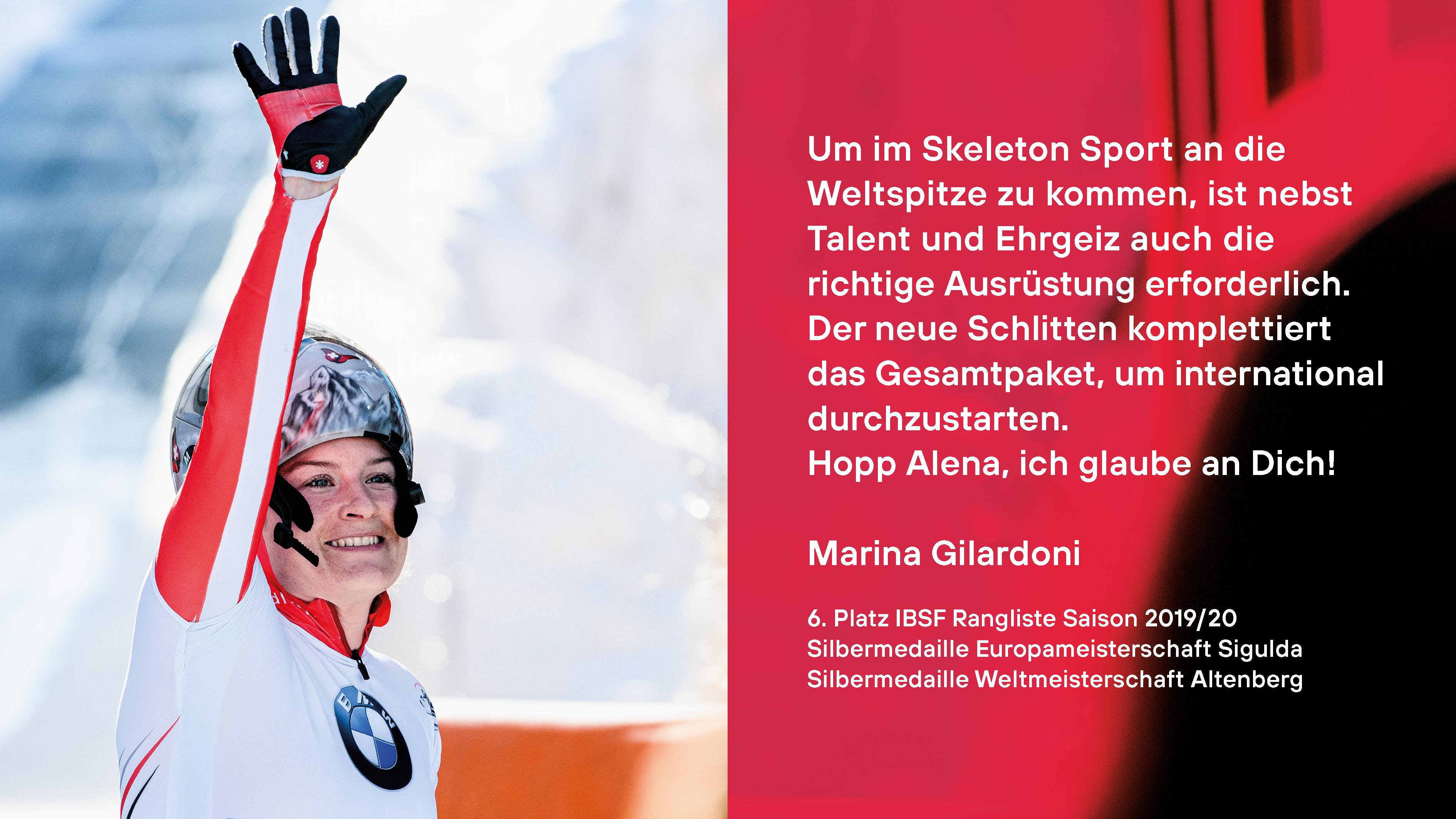 Projektgotti Marina Gilardoni | Skeleton Athletin
