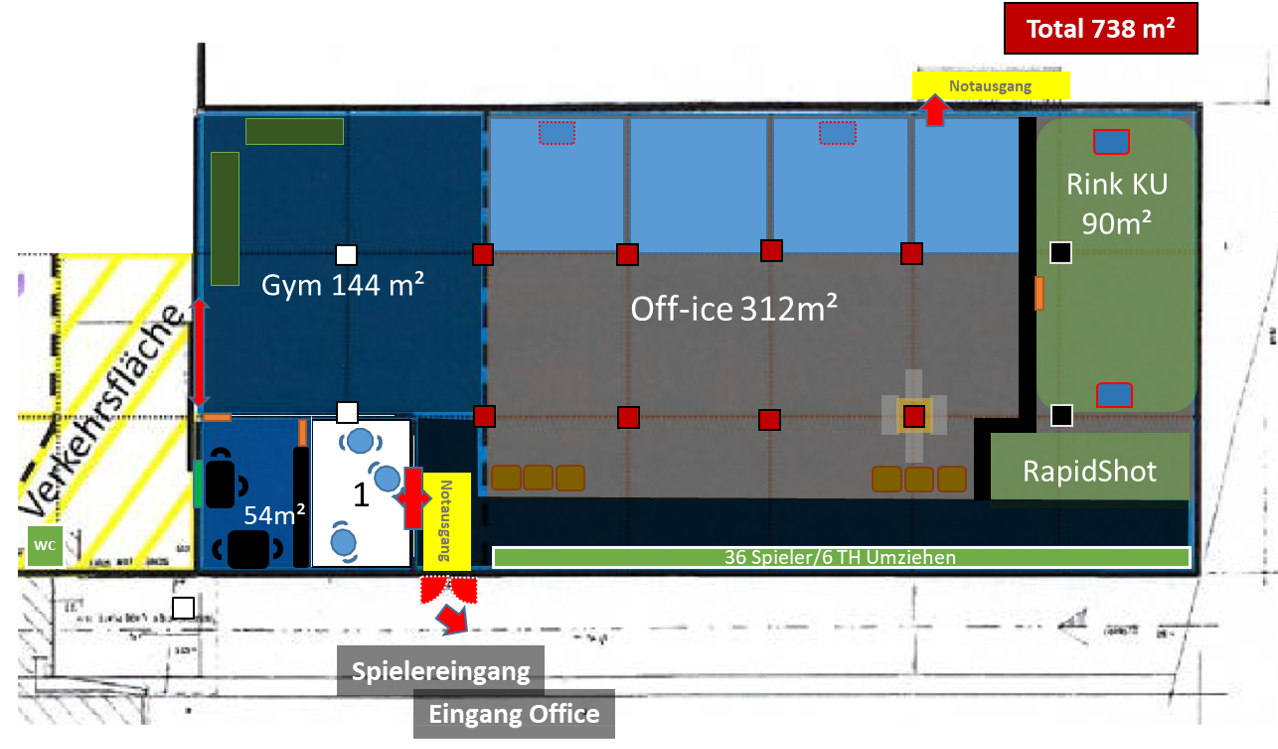 Layout Halle (Planung)